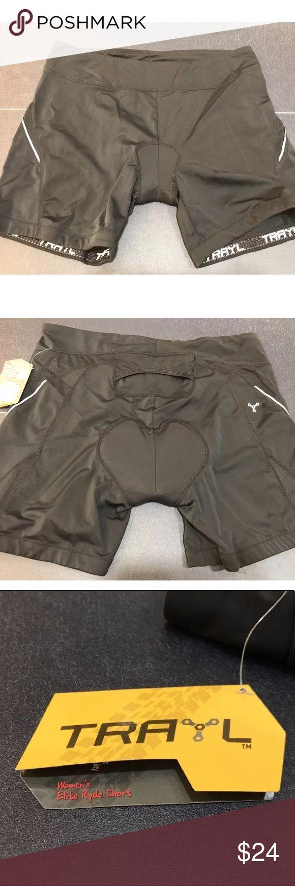 TRAYL Women's Black Padded Cycling Shorts Sz XL New with tags. Trayl Shorts