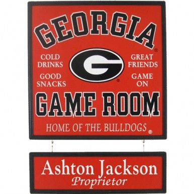 Georgia Bulldogs Plaque Personalized