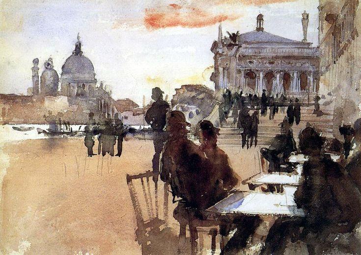 Cafe on the Riva degli Schiavoni 1880-1882. Джон Сингер Сарджент