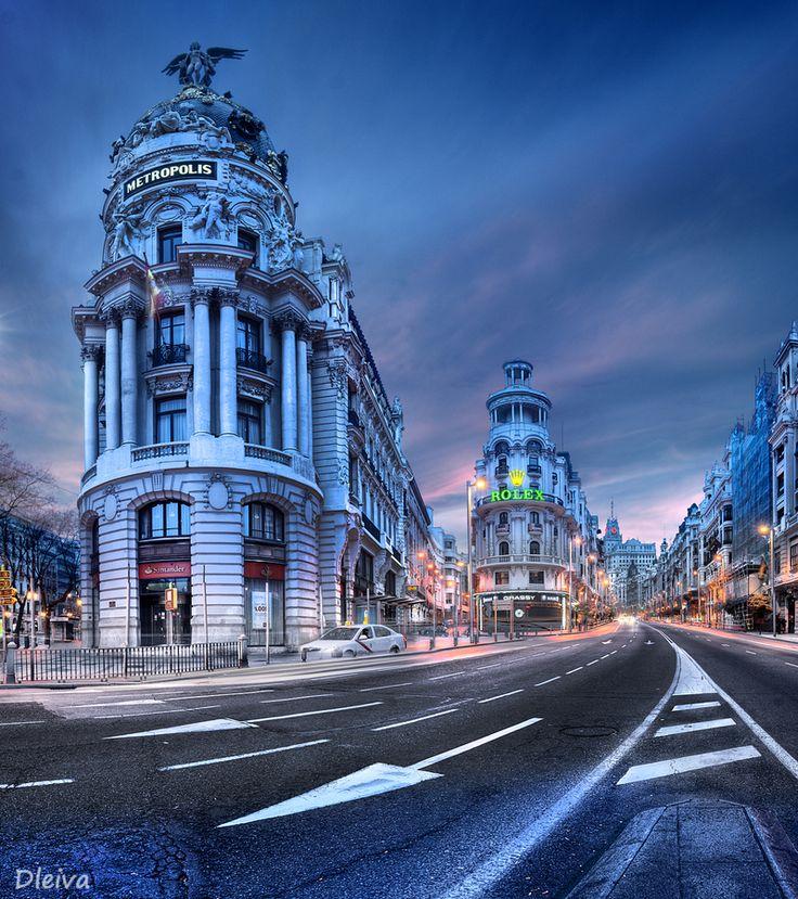 Gran Via in Madrid, Spain by Domingo Leiva on 500px