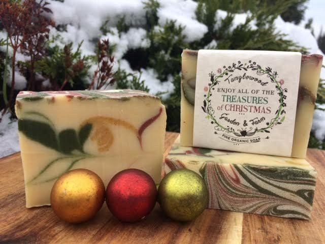 Tanglewood Organic Soap - Treasures of Christmas, $9.
