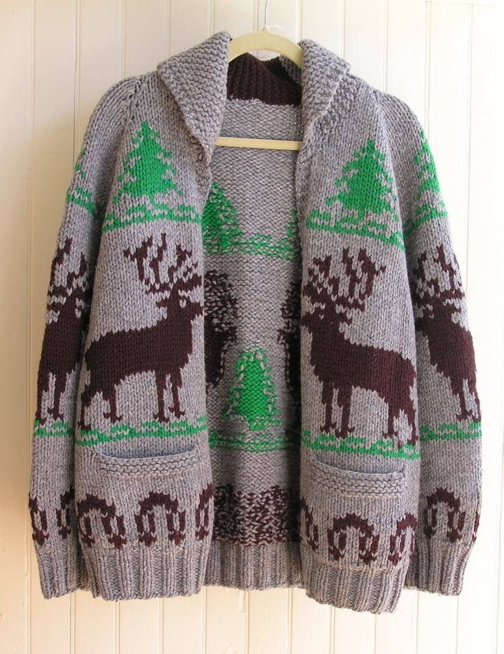 Mary Maxim Men's No. 400 Reindeer sweater, from eBay seller fishbowl