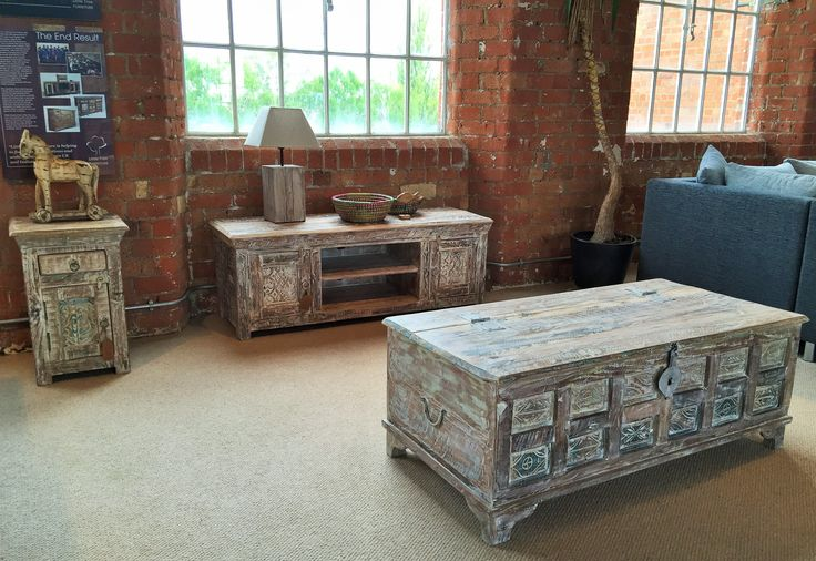 The furniture in our Whiteleaf range are all handmade from reclaimed wood. The items in this range feature stunning intricate carved panels sourced from Indian fortress doors. #upcycledfurniture #reclaimedwood