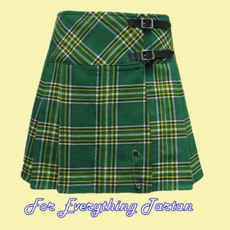 Ladies Mini Skirt Wool Tartan Womens Lightweight Pleated