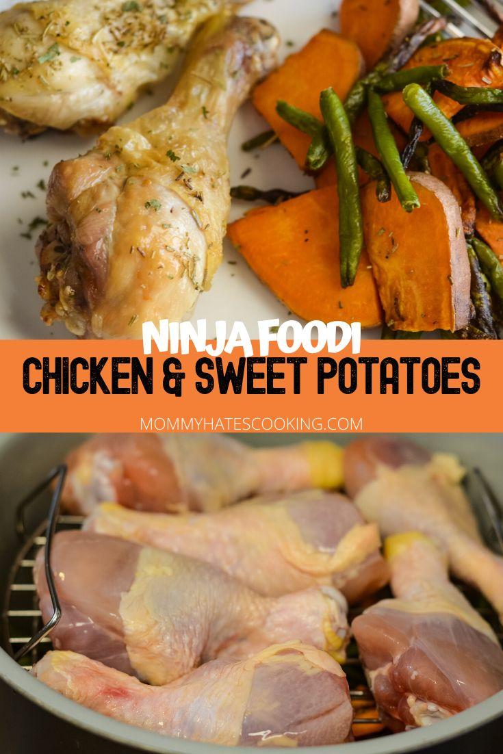 Ninja Foodi Chicken Legs with Vegetables (Air Fryer