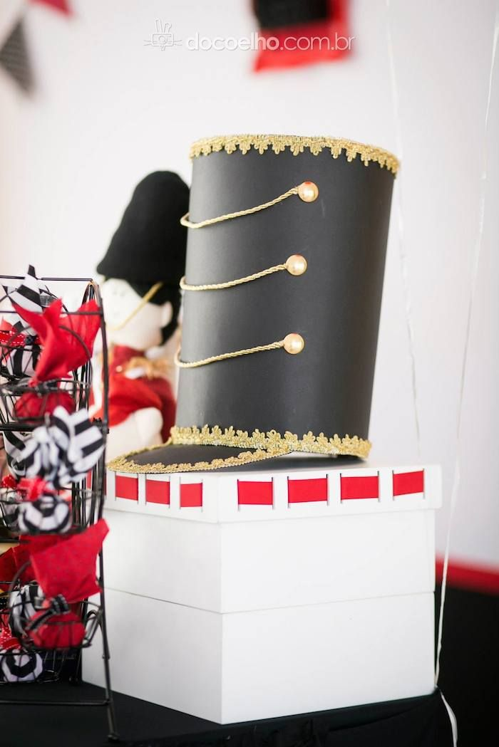 British Toy Soldier themed birthday party