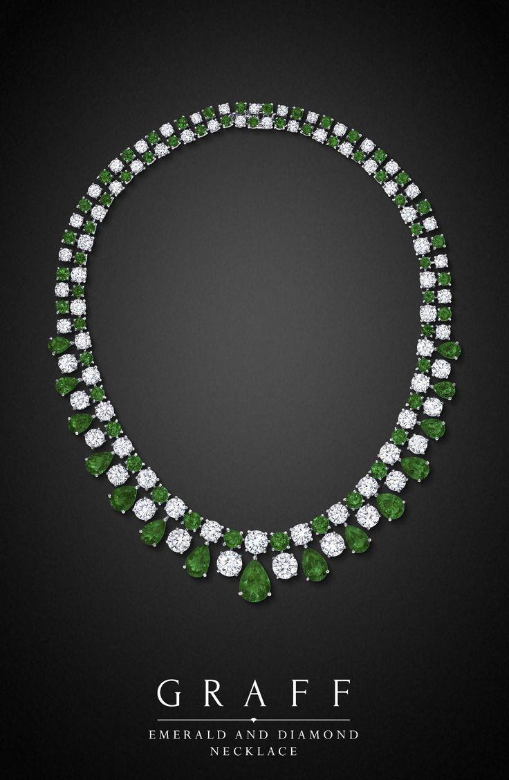 https://www.bkgjewelry.com/ruby-rings/139-18k-yellow-gold-diamond-ruby-ring.html Graff Diamonds: Emerald and Diamond Necklace