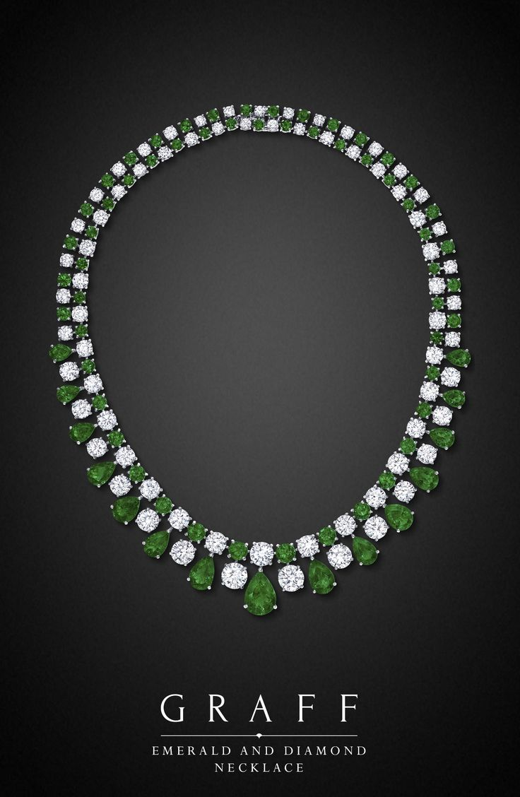 Graff Diamonds: Emerald and Diamond Necklace