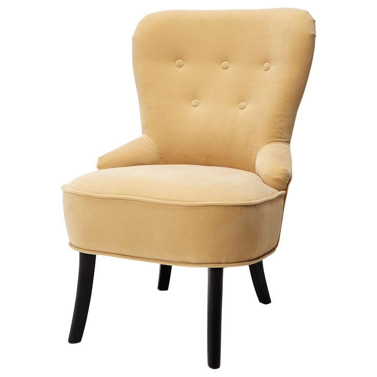 IKEA - REMSTA, Lenestol, Djuparp grønnblå, , Lenestolens form gir god støtte for ryggen.Fløyel er et mykt, luksuriøst stoff som er slitesterkt og enkelt å rengjøre med den myke børsten til støvsugeren din.