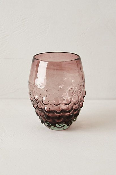 love these stemless glasses from anthro