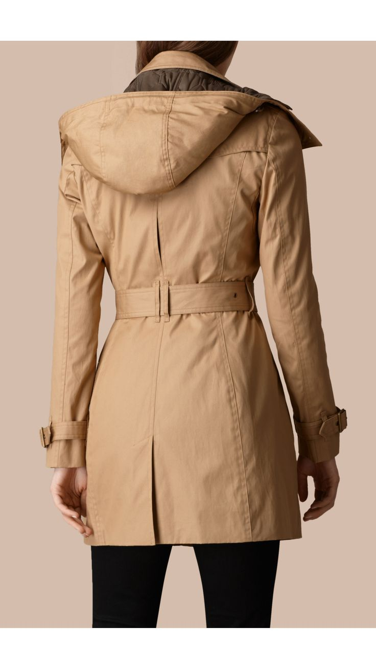 Hooded Trench Coat with Warmer Light Camel | Burberry