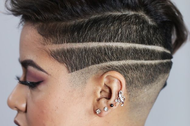 Women Get Badass Shaved Head Designs- Pretty cool, but I was expecting a bit more than just that.