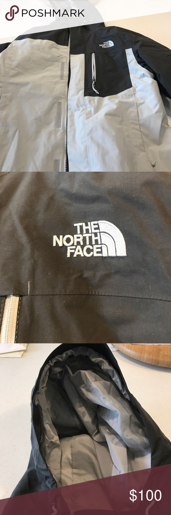 Men's Small The North Face Ski Jacket Very warm ski jacket with a removal lining. Has a hood as well. Three zippered pockets, zipper and Velcro on the front. Adjustable sleeves with velcro. A true Colorado ski jacket! The North Face Jackets & Coats Ski & Snowboard