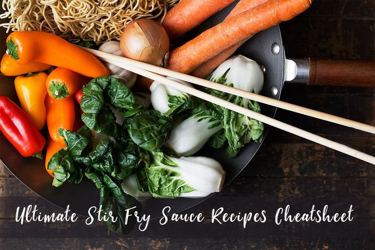 Looking for stir fry sauce recipes? This Ultimate Stir Fry Sauce Recipe Cheatsheet, has 40 different stir fry sauce recipes to choose from!
