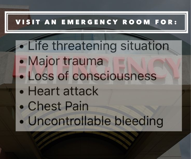 Emergency rooms should be utilized only in life-threatening situations or when immediate care is required outside of urgent care center hours.  http://qoo.ly/ext8y