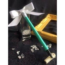 再販3リボンペン【ティファニーブルー結婚式のペン】ゲストブック記帳用ブライダルフラワーペン