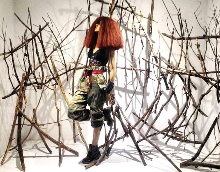 """ARTIDI ESCUELA SUPERIOR, Barcelona, Spain, student project: """"And into the forest I go, to lose my mind and find my soul"""", pinned by Ton van der Veer"""