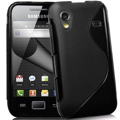 ® Supergets Samsung Galaxy Ace S5830 Coque en Gel motif ligne S, film de protection d'écran et chiffon de nettoyage: Le produit est…