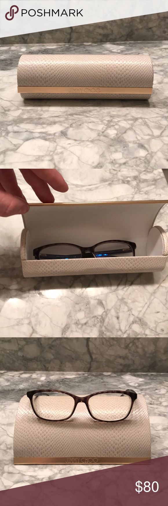 SALE - Jimmy Choo Glasses Only worn a few times before I got LASIK. You can replace the lenses with your own prescription lenses. Marking down over 75% from what I paid. I am moving at the end of this week and must downsize as much as possible. MAKE ME AND OFFER.   *Comes with original case and will throw in any item $10 or under from my closet for free** Will ship same day if ordered before 12pm and next day if after. Jimmy Choo Accessories Glasses