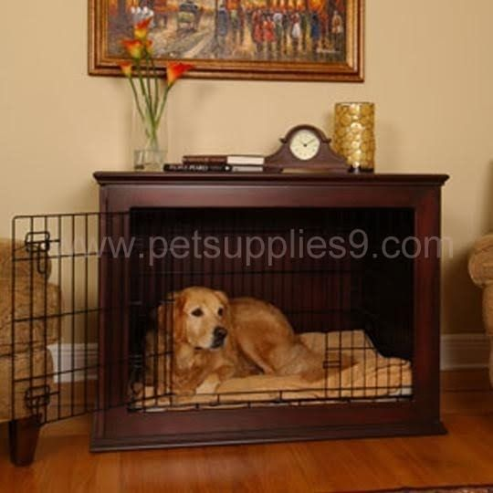 Add this solid and nicely finished wooden dog gate into