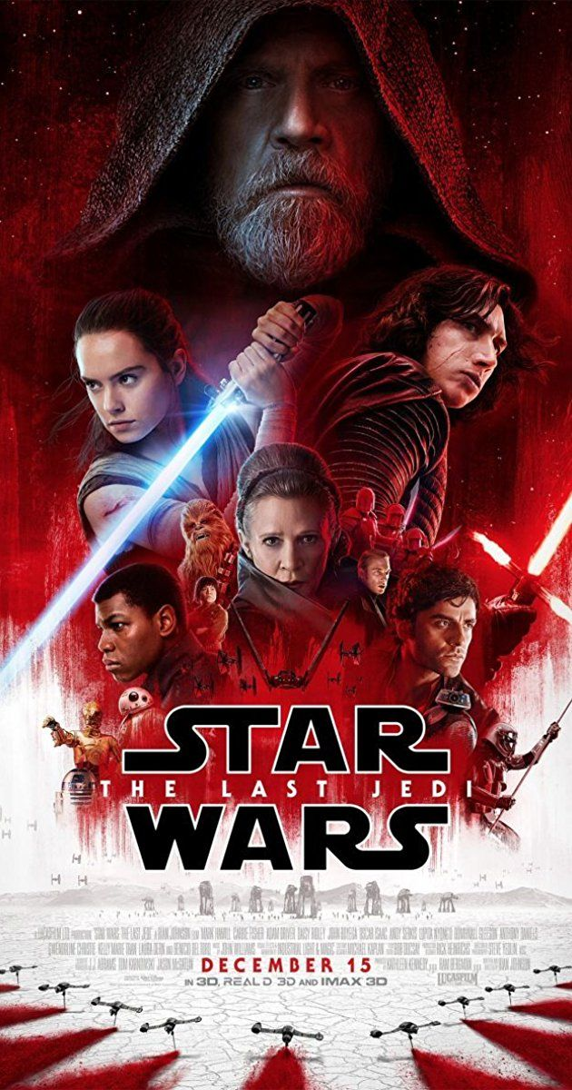 Directed by Rian Johnson.  With Daisy Ridley, John Boyega, Mark Hamill, Carrie Fisher. Having taken her first steps into a larger world in Star Wars: The Force Awakens (2015), Rey continues her epic journey with Finn, Poe, and Luke Skywalker in the next chapter of the saga.