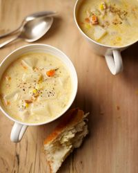 Fall River Clam Chowder Recipe from @Food & Wine: Food Recipes, Food And Wine, Chef Emeril, Fall Rivers, Emeril Lagasse Recipes Soups, Chowders Recipes, Rivers Clams, Clams Chowders, Chowders Food