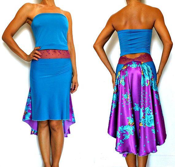 Deze rok is gemaakt van blauwe trui, en de achterkant van de rok is paarse zijde charmeusse met blauwe rozen prints Tailleband is Frans kant van Aubade collectie Verkrijgbaar in: XS - S taille 64cm stuk aan 74cm/25,2 -29.1 Voorzijde lengte 55cm/21,7 terug lengte 75cm/29.5 M - L taille 68cm stuk aan 78cm/26.8 -30,7 Voorzijde lengte 55cm/21,7 terug lengte 75cm/29.5 * De achterkant lengte van de rok kan worden verkort Care instructie: Handwas in koud...
