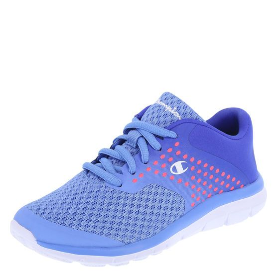 The lightweight design of the Gusto Cross Trainer will allow her to easily up her pace. It features a combination upper, laces for good fit, padded collar, soft lining, cushiony memory foam insole, and a lightweight, non-marking outsole. Manmade materials.