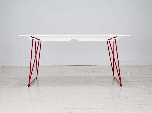 Lucy folding table by Alexander Lervik for Johanson Design