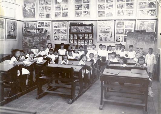 Een klas in Nederlands-Indië
