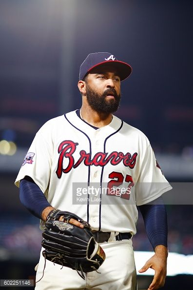 News Photo : Matt Kemp of the Atlanta Braves walks to the...