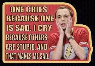 Sheldon, oh Sheldon :)