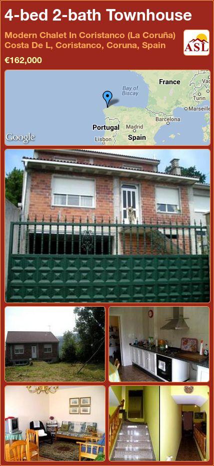 4-bed 2-bath Townhouse in Modern Chalet In Coristanco (La Coruña) Costa De L, Coristanco, Coruna, Spain ►€162,000 #PropertyForSaleInSpain