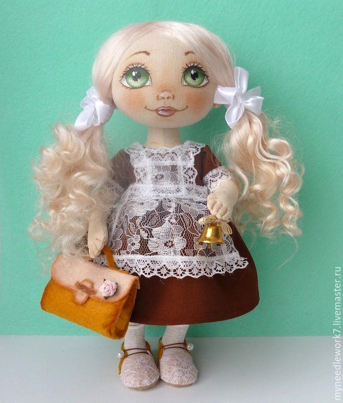 Купить Школьница - коричневый, школьница, кукла в подарок, подарок выпускнице, последний звонок, выпускной