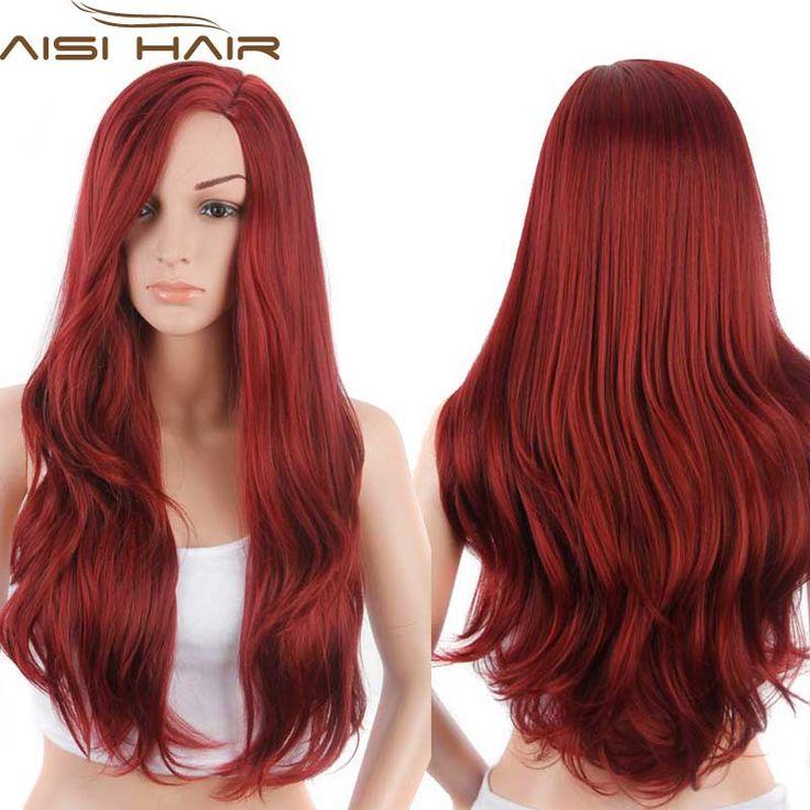 """Synthétique Perruques pour Femmes Rouge Femelle Perruque de Cheveux Perruques pour Femmes Jenner Femmes Perruques 26 """"longs Ondulés Bouclés Style De Cheveux"""