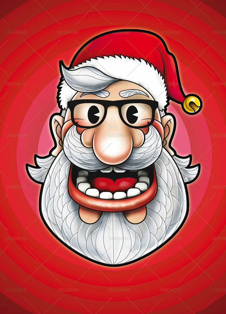 Hipster Santa Illustration by doghead.deviantart.com on @deviantART