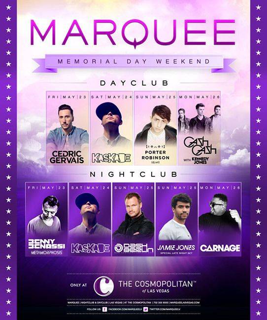Dash Berlin, Kaskade and Porter Robinson to Head Up Marquee's Memorial Day Celebrations - Dash Berlin World
