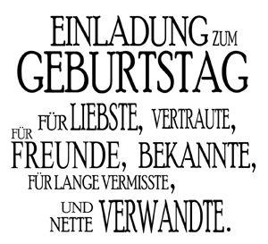 STEMPEL Einladung zum Geburtstag - www.hansemann.de