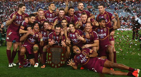 Queensland Rugby League Origin team 2013 - 8 in a row - true legends of the game. Queenslander!