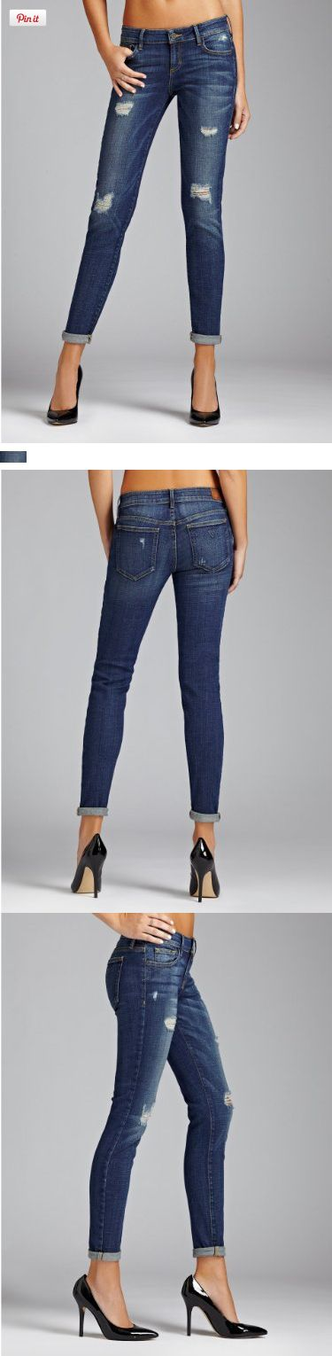 GUESS Women's Kate Low-Rise Skinny Jeans in Wildflower Wash, WILDFLOWER WASH (26), The perfect laid-back skinny in a wear-anywhere wash Designed with a low-rise skinny fit, these jeans are ideal for your off-duty days. The medium-weight, super-soft denim has just enough stretch to g..., #Apparel, #Jeans