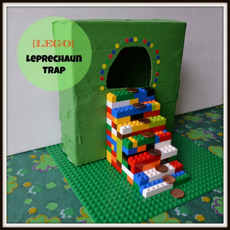 Lego Leprechaun Trap.  Great engineering problem to give to the children.  How can you catch the Leprechaun?