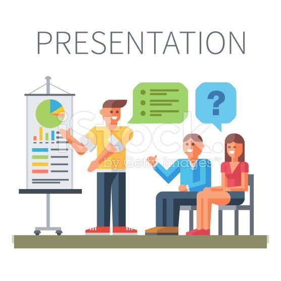 Presentation. Business training royalty-free stock vector art