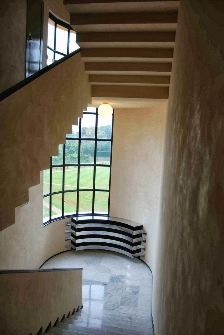 Vista Interna, Parte Del elemento curvo en fachada. Villa Cavrois
