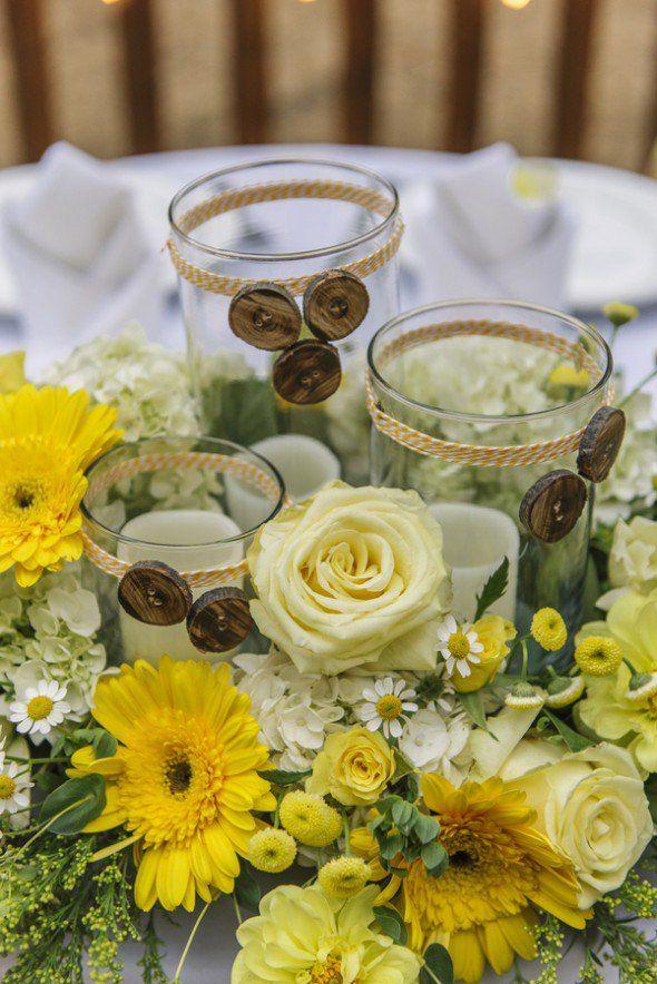 Wedding Ideas: How to Plan a Rustic Wedding - wedding centerpiece idea; Jason Burns Photography via Rustic Wedding Chic