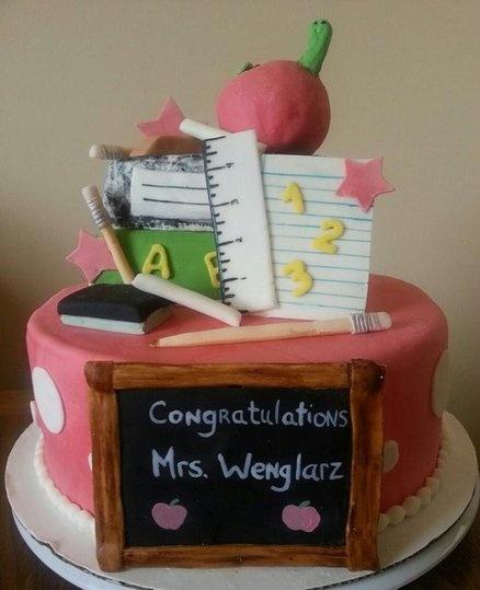 Teacher grad cake