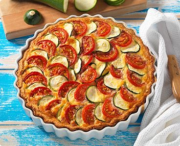 Rezept: Zucchini Quiche mit Tomaten