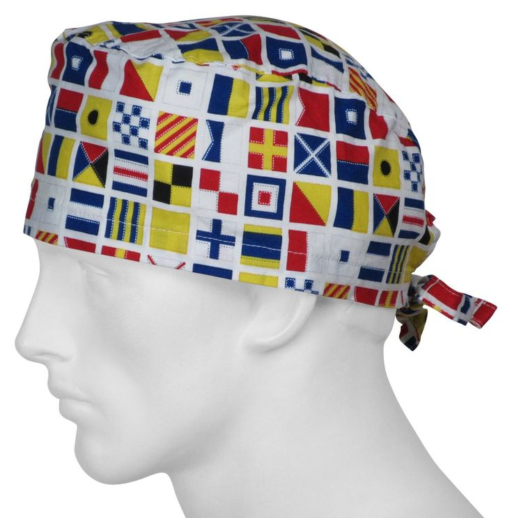 Scrub Caps Code Flags USA Made 100% Cotton In Stock Ships Worldwide Daily designer fabrics Top Quality Comfortable Design  SurgicalCaps.com