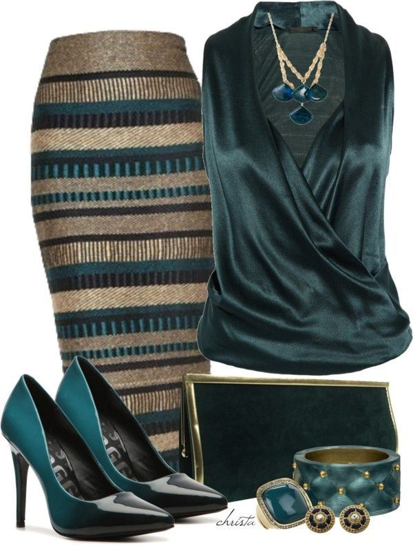 (The_Lane) #Classic design Everything about this ensemble is ... well everything!! Life is all about this DEEP DARK not so Emerald GREEN