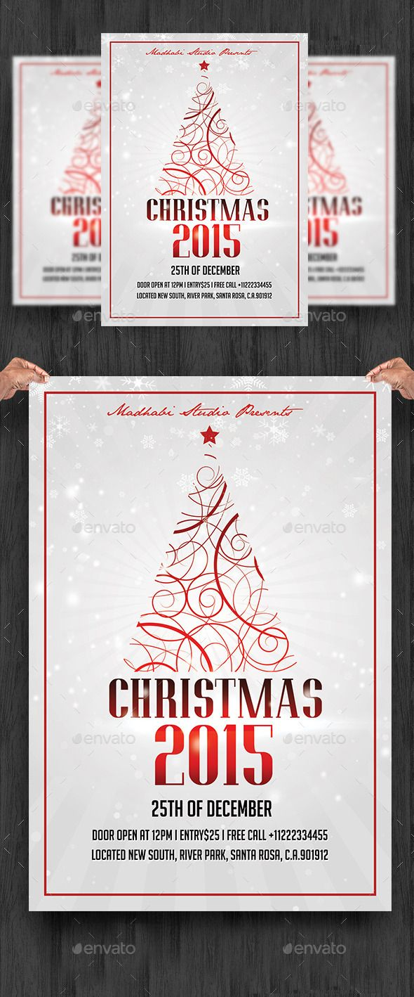 Christmas Flyer Template PSD #design Download: http://graphicriver.net/item/christmas-flyer-template/13583574?ref=ksioks