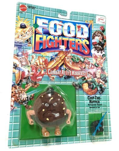 Vintage NEW Food Fighters Cookie CHIP-THE-RIPPER Variant Mattel 1988 MINT AFA#1?